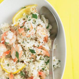 Lemon Shrimp with Rice.