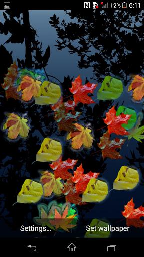 Floating Leaf Live Wallpaper