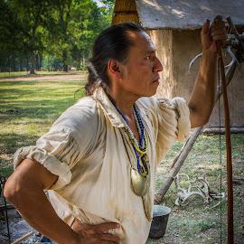 Cherokee Warrior by Ron Meyers - People Portraits of Men