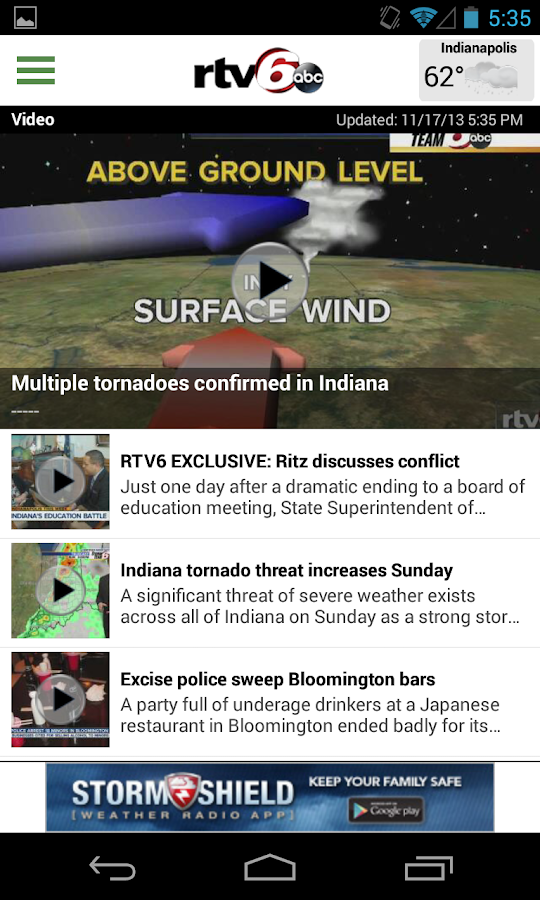 RTV6 Indianapolis - screenshot