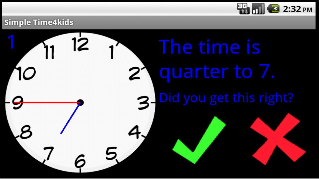 Simple Time4Kids- screenshot