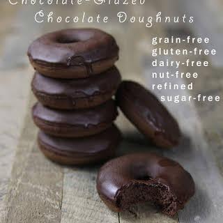 Chocolate-Glazed Chocolate Doughnuts (nut-free!).