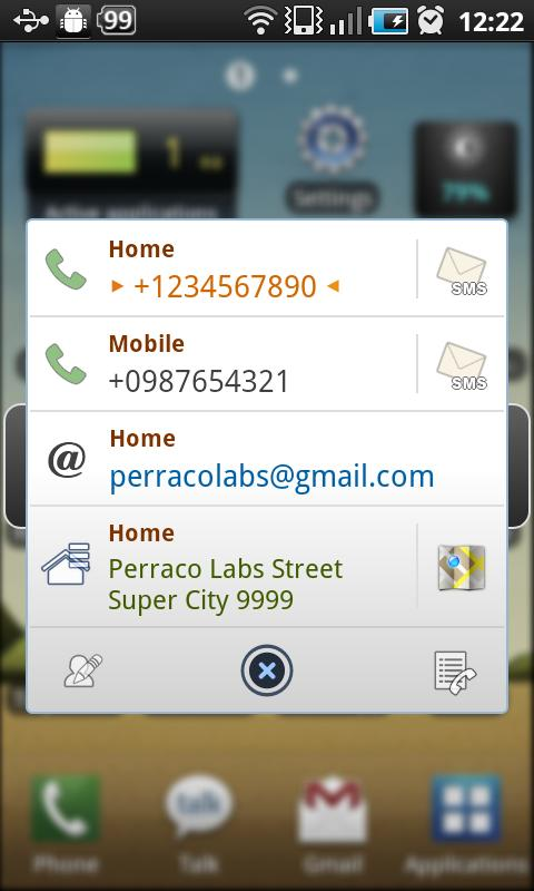 Tiny Call Confirm Plus+ - screenshot