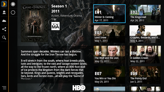 Plex for Sony Internet TV - screenshot thumbnail