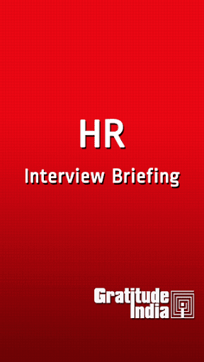 HR Interview Briefing