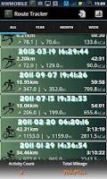 Screenshot of Route Tracker