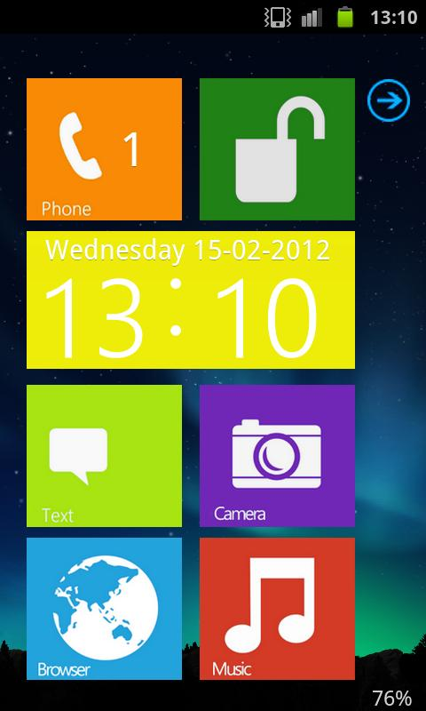 Windows 8 lockscreen Go Locker - screenshot