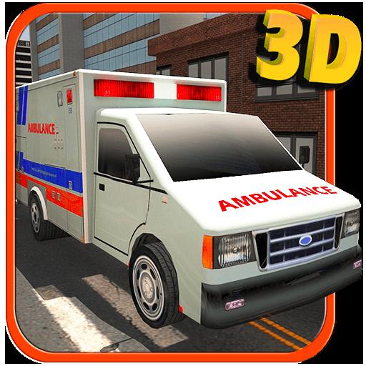 救急車のドライバーの3Dシミュレータ 模擬 App LOGO-硬是要APP