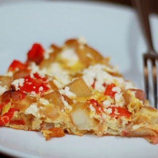 Potato, Red Pepper, and Feta Frittata.