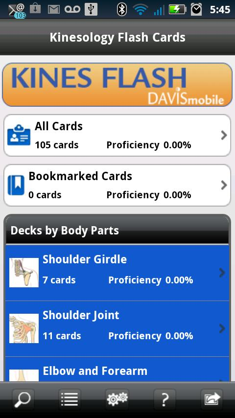 Kinesiology Flash Cards - screenshot