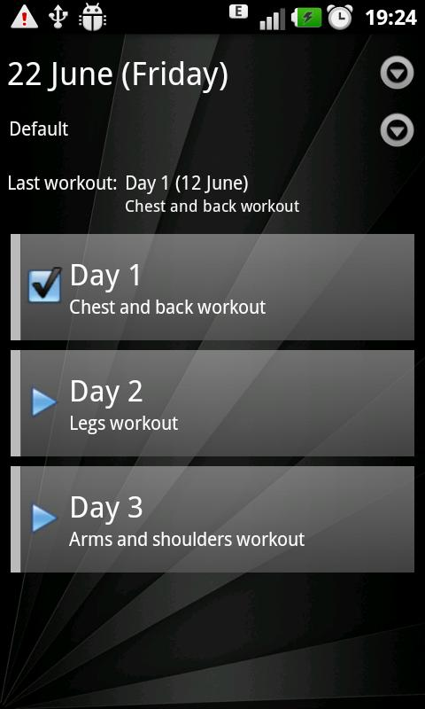 Gym Book: training notebook - screenshot