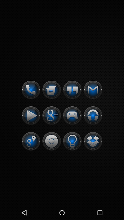 Black and Blue - Icon Pack - screenshot