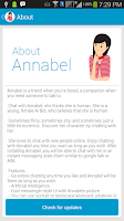 Screenshot of Chat with Annabel