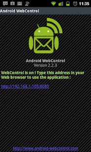 WebControl tablet and pc sms - screenshot thumbnail