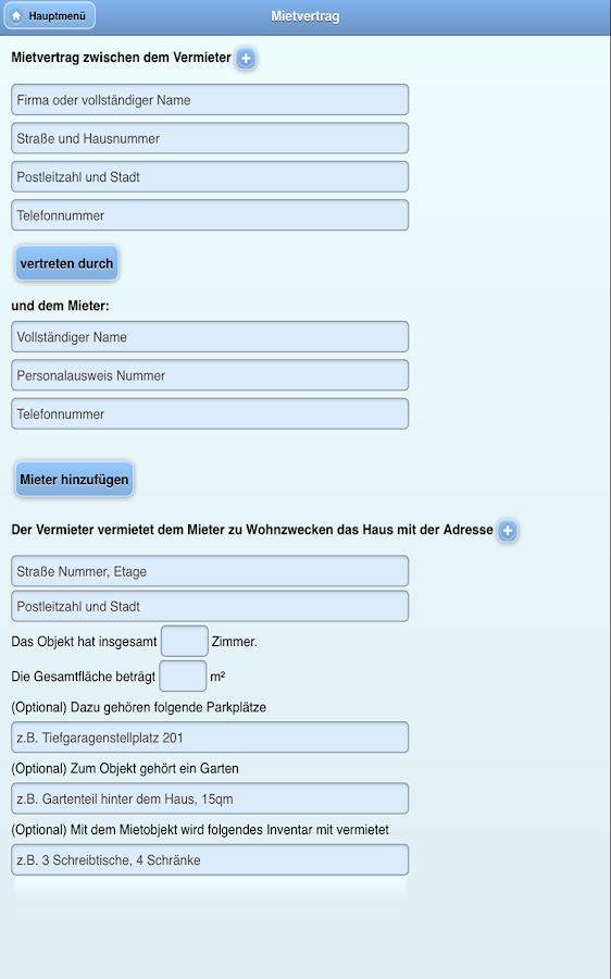 Mietvertrag App - Mietverträge - Android Apps on Google Play