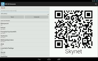 Screenshot of Wifi QR Code Generator