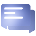 EvolveSMS Material Blur Blue icon