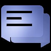 EvolveSMS Material Blur Blue