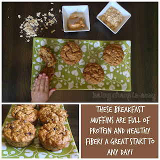 PB & Banana Oatmeal Muffins!