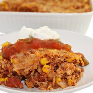 Skinny Mexican Chicken and Brown Rice Casserole.
