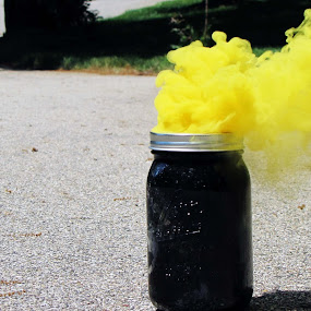 Yellow by IS Photography - Artistic Objects Other Objects ( colors, jar, summer, yellow, smoke )
