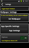 Screenshot of On and On Battery Saver