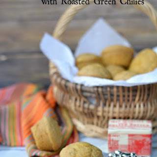 Gluten Free Mini Cornbread Poppers with Roasted Chilies