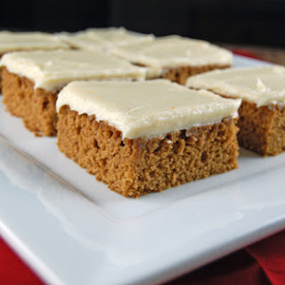 Gingerbread Bars with Orange Cream Cheese Frosting