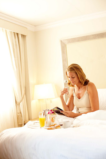 Treat yourself to breakfast in bed and make your Crystal cruise even more cozy.
