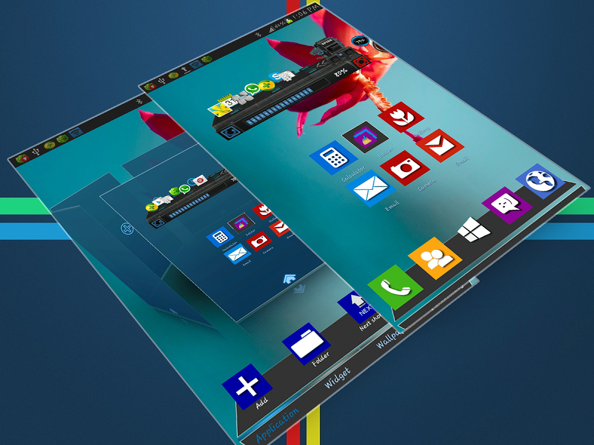 Windows 8 Next Launcher Theme - screenshot