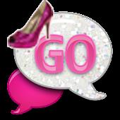 GO SMS - Pink Glitter Heels
