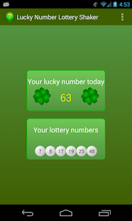 Lucky Number Lotto Shaker | FREE Android app market