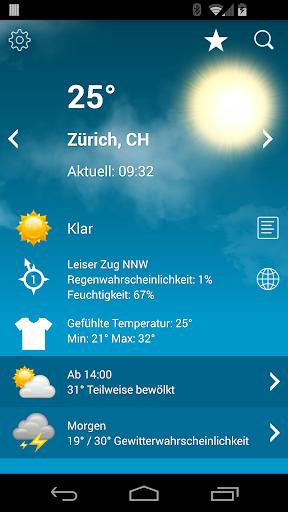 Wetter Schweiz XL PRO