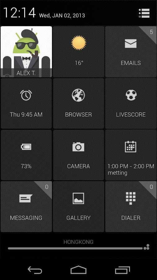 UCCW Theme - Grids - screenshot