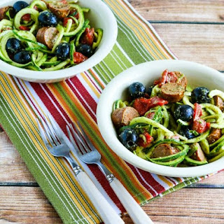 Zucchini Noodle Mock Pasta Salad