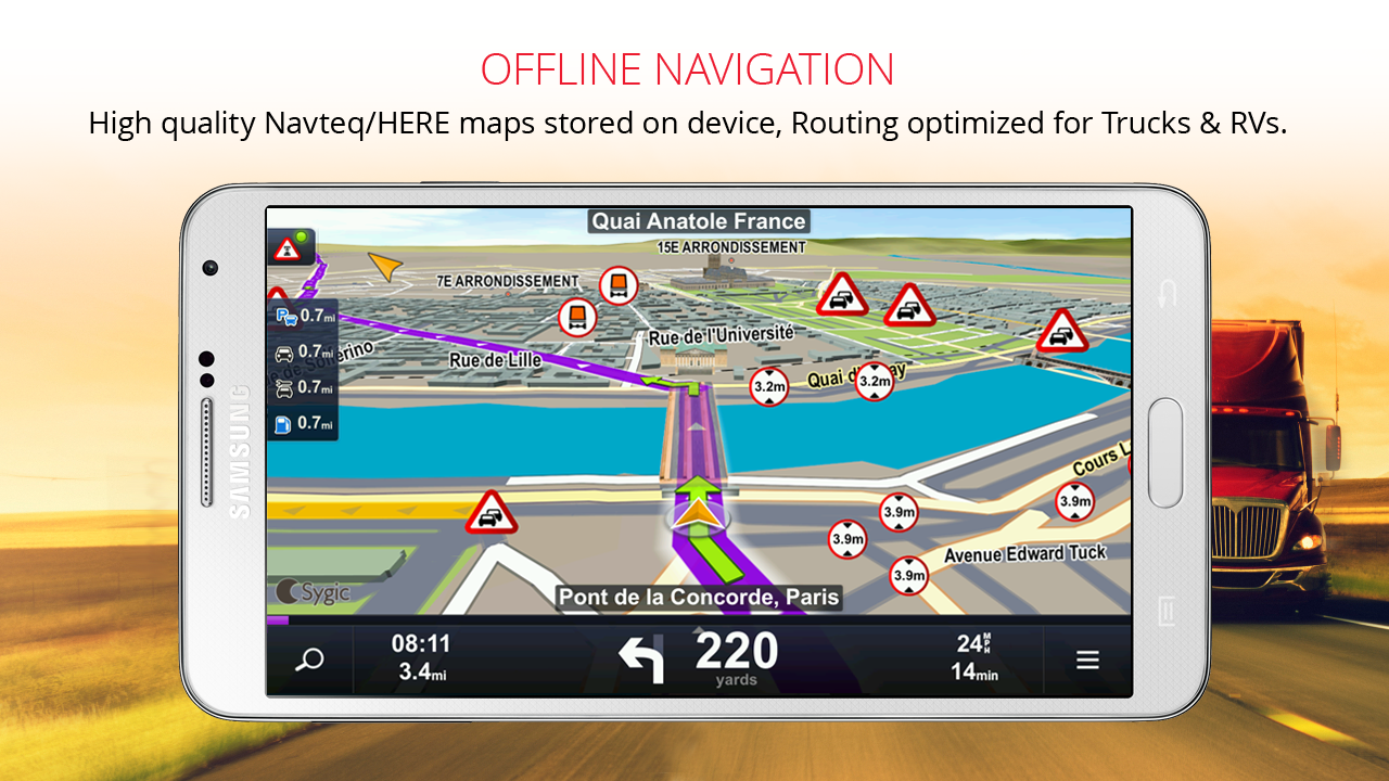 Sygic Truck GPS Navigation- screenshot