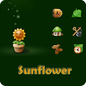 Sun Flower Go launcherex theme