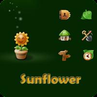 Sun Flower Go launcherex theme 1.6