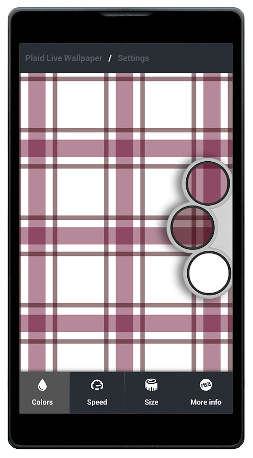 Plaid Live Wallpaper FREE - screenshot