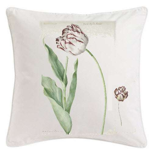 Scatter cushion printed Tulips