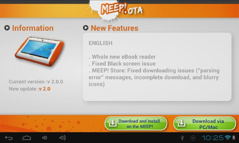 MEEP! OTA App- screenshot