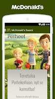 Screenshot of McDonald's Suomi