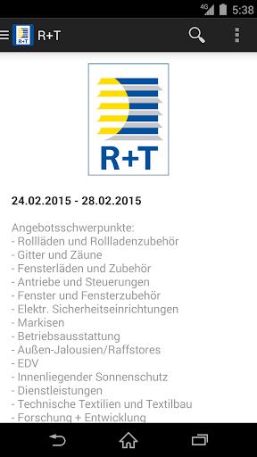 R+T - Rollladen und Tore