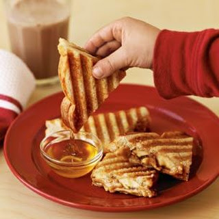 Peanut Butter Panini with Bananas & Honey