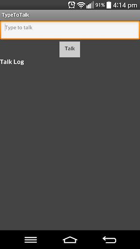 Type To Talk