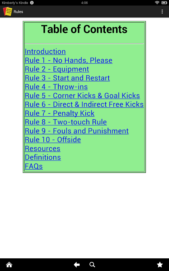 Simple Soccer Rules (Ad free) - screenshot