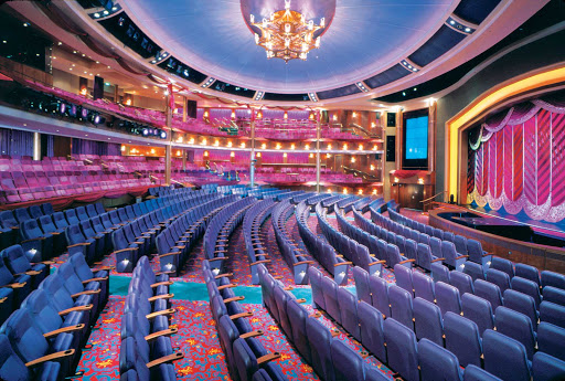 Voyager-of-the-Seas-La-Scala-Theatre - Voyager of the Seas' elegant La Scala Theatre uses state-of-the-art production technology to stage Broadway-standard shows in the evening.