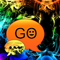 GOSMS Theme rainbow smoke icon