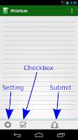 Screenshot of WriteNote