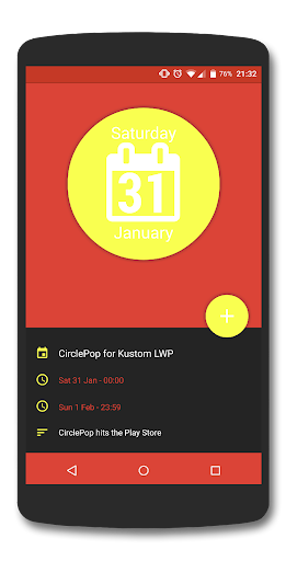 CirclePop for Kustom LWP